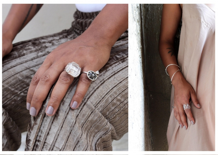jewelry colorful handmade ring bracelet necklace earring lookbook