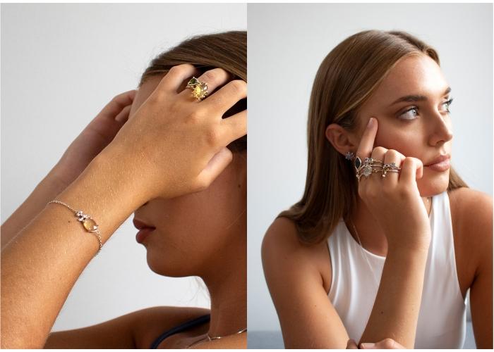 1n bagues multi bracelet citrine